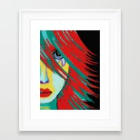 indie Framed Art Prints featuring Mosaic Indie by Sartoris ART