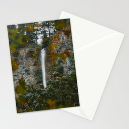 Multnomah Falls Autumn Stationery Cards