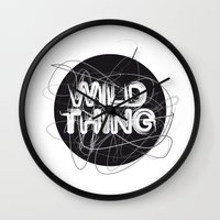 the thing Wall Clocks featuring Wild Thing by feigenherz BAM
