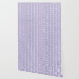 Lilac Abstract Fish Net Loop Pattern Wallpaper