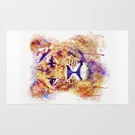 Lioness Head Rug