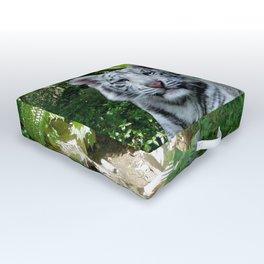 White Tiger Outdoor Floor Cushion
