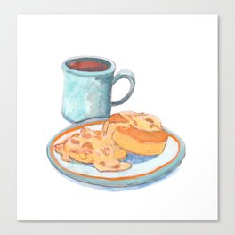 Southern Hygge: Bisuits n' Coffee Canvas Print