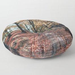 Autumnal path Floor Pillow