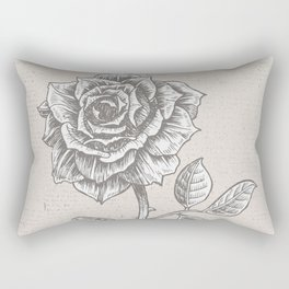 Single dark rose Rectangular Pillow