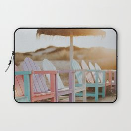 Pastel Coloured Beach Chairs Laptop Sleeve