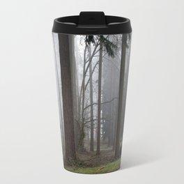 A foggy walk in the woods Travel Mug