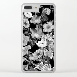 Seamless Botanical Pattern Clear iPhone Case