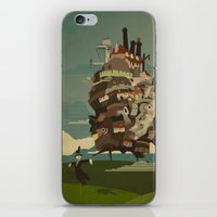 castle iPhone & iPod Skins featuring Moving Castle by Danny Haas