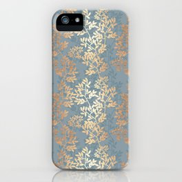 Gold Leaf Tangles iPhone Case