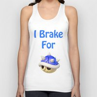 mario kart Tank Tops featuring I Brake For Blue Shells (Mario Kart)  by Don Enrique