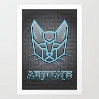 transformers Art Prints featuring Autocats Transformers by Enrique Valles