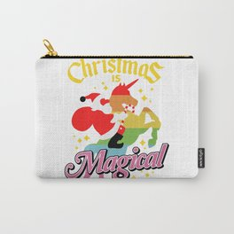 Christmas Is Magical Santa Claus Riding Unicorn Carry-All Pouch