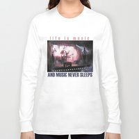 theatre Long Sleeve T-shirts featuring Lotus Theatre by Miquel Cazanya