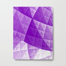 Violet abstract pattern Metal Print