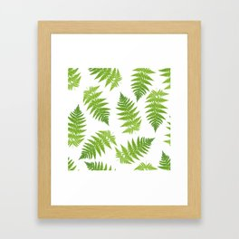 Fern seamless pattern. Framed Art Print