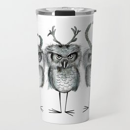 Owls with Horns Travel Mug