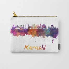 Karachi skyline in watercolor Carry-All Pouch