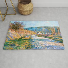 12,000pixel-500dpi - Claude Monet - The Road to Vetheuil - Digital Remastered Edition Rug