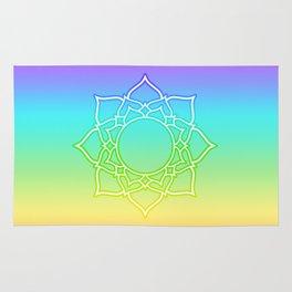 Rainbow Lotus Mandala Rug