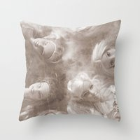 barbie Throw Pillows featuring Barbie by Christine Hall