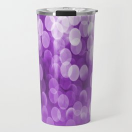 Bokeh Light Purple Tone #decor #society6 #buyart Travel Mug