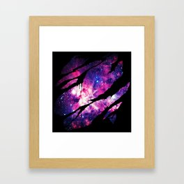 Deep Space Inside Framed Art Print