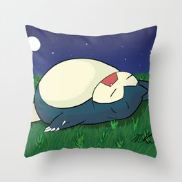 Snorlax Sleeping Throw Pillow