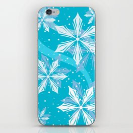 Winter Blue Snowball Christmas iPhone Skin