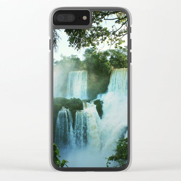 Wonderful Waterfall Clear iPhone Case