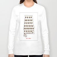 alabama Long Sleeve T-shirts featuring ASL - Alabama by EloiseArt