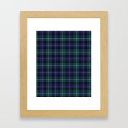 Holiday Tartan Plaid Framed Art Print