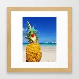 pineapple in Punta Cana Framed Art Print