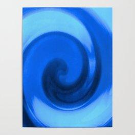 Blue tie dye Poster