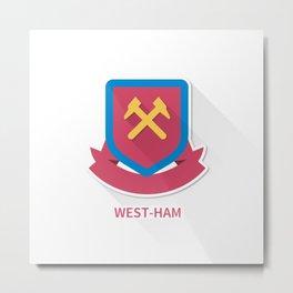 West Ham United Flat Design Metal Print
