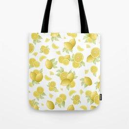Summer Lemon Twist #1 #tropical #fruit #decor #art #society6 Tote Bag