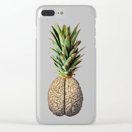 Pinebrain (pineapple) Clear iPhone Case