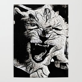 Angry Lion Cub Poster