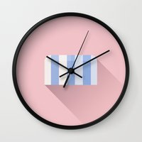 the grand budapest hotel Wall Clocks featuring The Grand Budapest Hotel · Jail affair by Lorena G