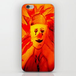Clown Portrait iPhone Skin