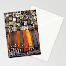 Italian leather belts, Florence market Stationery Cards