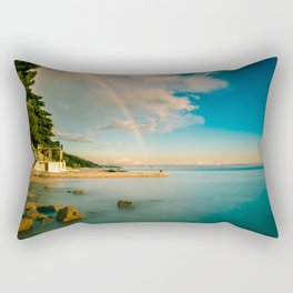 Rainbow in the gulf of Trieste Rectangular Pillow