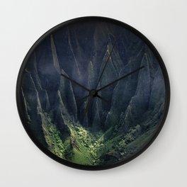 Breathtaking Hawaii Hanging Over Coastal Cliffs Wall Clock