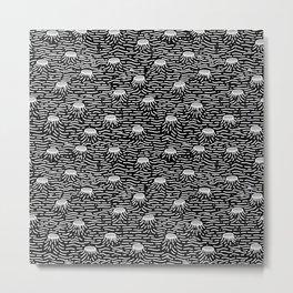 Dark Moon Surface Metal Print
