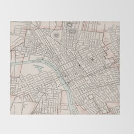 Vintage Map of Nashville Tennessee (1901) Throw Blanket