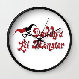 Harley quiin daddy lil monster Wall Clock