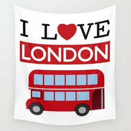 I Love London Wall Tapestry