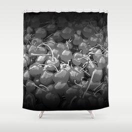 cherries pattern reaclibw Shower Curtain