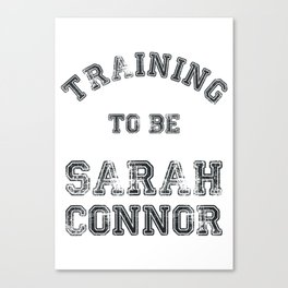 Training to be Sarah Connor Canvas Print