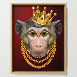 The King of Monkeys Serving Tray